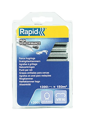 RAPID Vr16 Fence Hog Rings Pack 1390 Galvanised