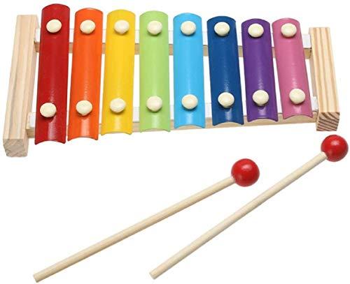 MINASAN Xylophon Spielzeug ab 1 Jahr, 3 in 1 Montessori Pädagogisches Vorschullernen Musikspielzeug Holzspielzeug Nachziehspielzeug Geburtstagsgeschenk (Mehrfarbig, Einheitsgröße)