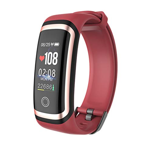 XUEMEI Pulsera Inteligente M4 Pantalla De Color Sport Pedómetro Reloj Smartband Fitness Traker Bluetooth Impermeable Banda Inteligente (Color : Gold Red)