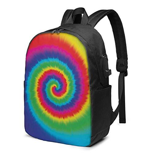 IUBBKI Horse White Laptop Backpack with USB Charging Port 17 Inch Travel Computer Backpacks for Women Men School College Bookbag