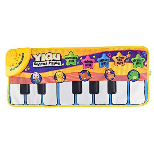 HSD Alfombra de juguete musical para niños, alfombra para gatear, manta musical...