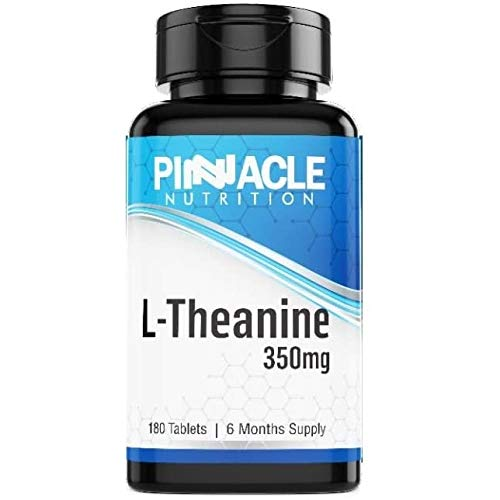 L-Theanine 350mg 180 Tablets (6 Month Supply) High Dosage Amino Acid Sourced from Green Tea Leaves