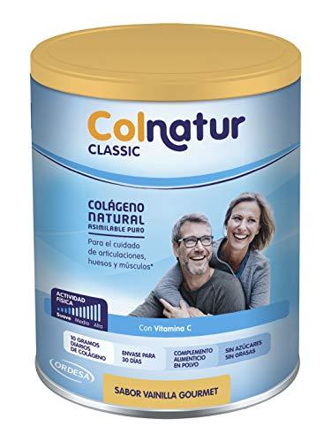 Colnatur Classic – Colágeno Natural para Músculos y Articulaciones, Sabor Vainilla, 306 gr