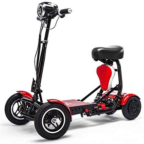 RXRENXIA Bicicleta Plegable Eléctrica, De Litio De Las Pilas De Bicicletas Lectric Triciclo Ligera para Scooter Y Bicicleta Plegable De Aluminio para Adultos Al Aire Libre Aventura