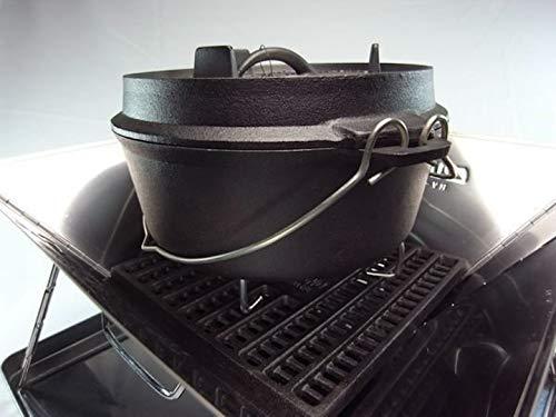 キャンピングムーン(CAMPINGMOON)焚火台炭床鋳鉄製ロストル(T-210(21x21cm))