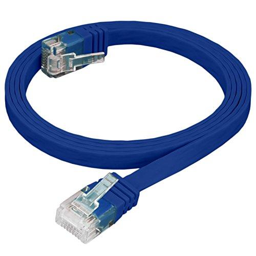 HB Digital - Cable de red LAN plano plano RJ45 (2 m,...