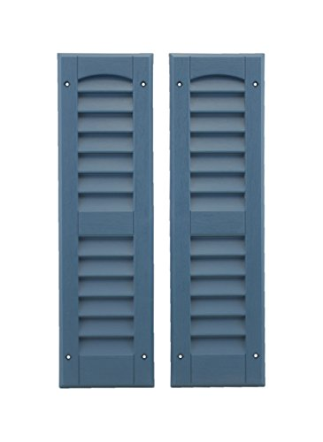 Louvered Shed or Playhouse Shutters Blue 1 Pair 6' x 21'