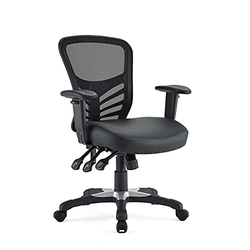 Hot Sale LexMod Articulate Mesh Office Chair with Fully Adjustable Black Vinyl Seat