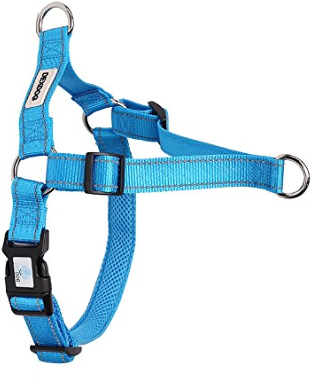 DEXDOG EZTrainer No Pull Front Attachment Clip Dog Harness for Training Running Comfort (XLarge, bluee)