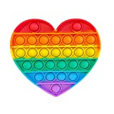 Charlie Pop it Fidget and Wind Spinner Anxiety Stress Reliever Toy for Kids and Adults (Heart Shape)