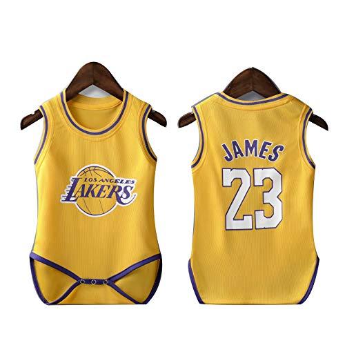 Camiseta de baloncesto NBA Fanático de los deportes Bebé verano LeBron Raymone James 23 James Harden 13 Michael Jordan 23 Kyrie Irving 11 Bobby Simmons 25 Kobe Bean Bryant 24 Creepers Rompers S-M