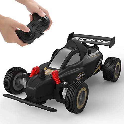 RC Racing Car, 4WD 2.4Ghz Remote Control Car, 10-15KM/H High Speed, Variable Speed, 1:20 Scale, 4 Batteries, Toys Cars for Boys and Girls, Black