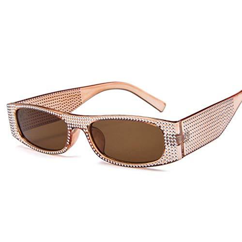 Gafas De Sol Mujeres Vintage Rectángulo Gafas De Sol Mujeres Diseñador De Moda Ladies Pequeño Marco Negro Rojo Sol Gafas De Sol Retro Diamante Gafas Uv400