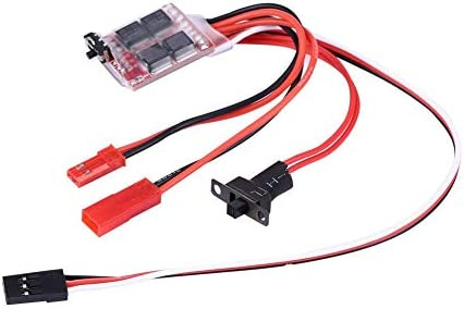 Tbest RC 20A Brushed ESC 20A Brushed ESC Electronic Speed Controller with Brake for RC Car Boat product image