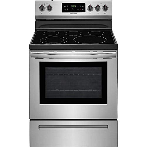 Frigidaire FFEF3054TS 30 Inch Electric Freestanding Range with 5 Elements, Smoothtop Cooktop, 5.3 cu. ft. Primary Oven…
