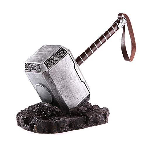 B&T Nordische Mythologie Aluminium Thor Mjolnir Solide Hammer Aluminiumlegierung Modell, Geschenkbox Verpackung (Silber)