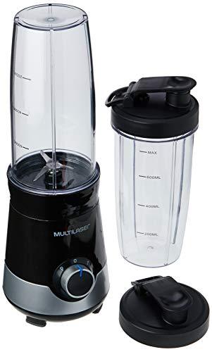 Liquidificador Shake 127V com 300W 800ml + 1 Copo Extra Preto/Prata Multilaser - BE013