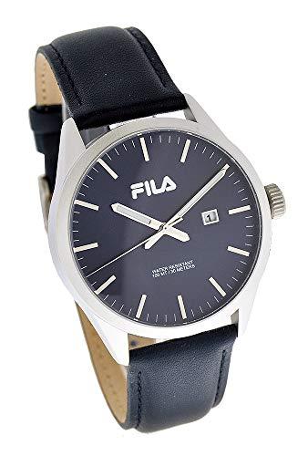 Fila Herrenuhr Analog Quarz Uhr mit Lederband Blau 38-829-103