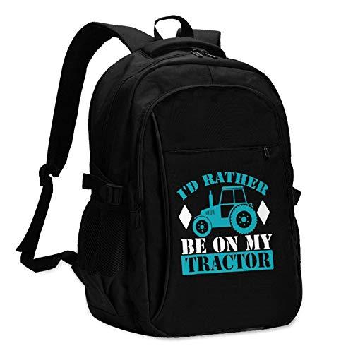 Hdadwy Tractor (76) Las Mochilas de Viaje para Hombres y Mujeres con Puertos de Carga USB Pueden acomodar portátiles de 13 a 16 Pulgadas