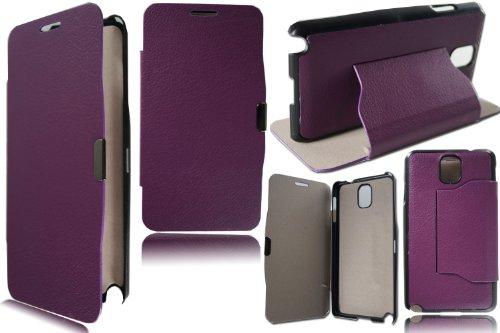 PIXFAB New Slim Morado con función Atril–Funda Tipo Libro para Samsung Galaxy...