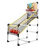 YQZ Juego de Arcade de Baloncesto para el hogar Plegable Deportivo para Regalo de niño de Baloncesto Interior al Aire Libre, Ahorro de Espacio y fácil de Instalar