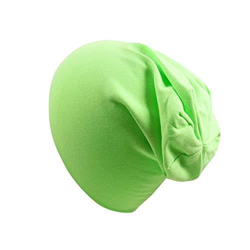 Nuevo bebé Street Dance Hip Hop Sombrero Primavera otoño bebé Sombrero Bufanda para niños niñas Gorro de Punto Invierno cálido Color sólido niños Sombrero-Fruit Green Hat-0 to 4 Years