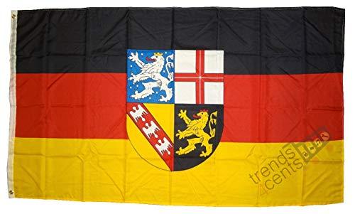 MM Saarland Flagge/Fahne, 150 x 90 cm, wetterfest, mehrfarbig, 16201