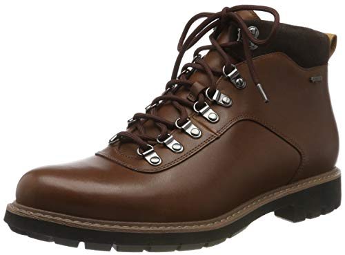 Clarks Herren BatcombeAlpGTX Biker Boots, Braun (Brown Leather Brown Leather), 41 EU