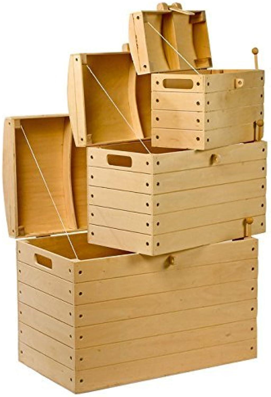 """Piratenkisten Natur """"aus Holz im 3er Set, Dekokisten sind ein Allroundtalent, als Aufbewahrungs- oder Transportmglichkeit"""