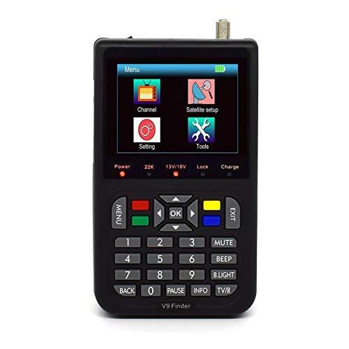 ZHITING Satellite Satellite Finder Meter Signal, V9 Finer HD Digital Satellite TV Finder con MPEG-2   MPEG-4, Digital Satellite Signal Finder Meter con Schermo LCD a Colori da 3,5 Pollici
