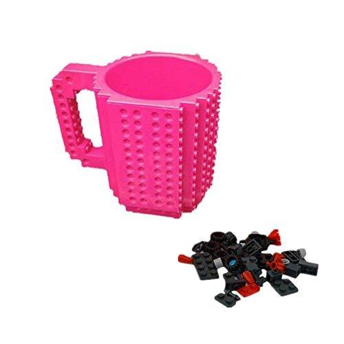 Ogquaton Premium-Qualität Build-On Brick Mug Kaffeetasse DIY kreative Bausteine ??Kaffee Tee Getränk Trinken lustiges Geschenk