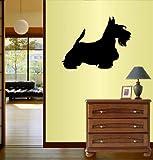 Wall Vinyl Decal Home Decor Art Sticker Silhouette Dog Scottish Terrier Scottie Pet Animal Pet Shop Nursery Room Removable Stylish Mural Unique Design 111
