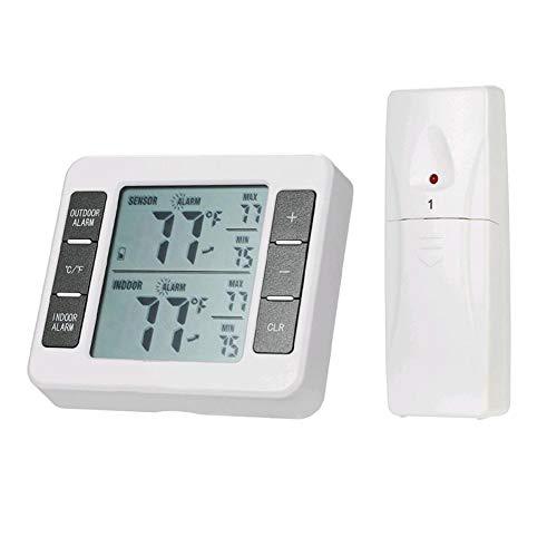 YANGYUAN Sonido de Alarma inalámbrico Digital Termómetro del refrigerador del Sensor de Temperatura del Monitor Interior y Exterior Pantalla LCD con un Medio de Control Remoto (Style : 2)