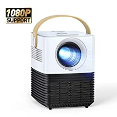 """Miniprojector, APEMAN Support 1080P Video Projector, 30° Remote Electronic Correction, Dual Speaker, 120"""" Display Full HD, Compatible with HDMI/USB/Smartphone/PS4/TV Box, For Home Theater[New Upgrade]*"""