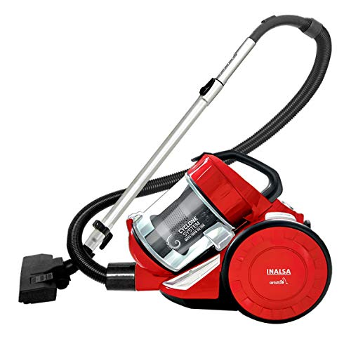 Inalsa Vacuum Cleaner 1400W Bagless - Aristo | HEPA Filter, Powerful Suction & High Energy Efficiency| 1.5 L Dust Collector, 2 Years Warranty (Red/Black)
