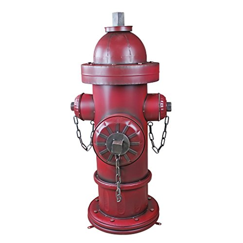 Design Toscano FU82351 Fire Hydrant Statue Puppy Pee Post and Pet Storage Container, Grande, Full Color