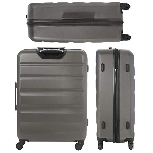 Aerolite Large Super Lightweight ABS Hard Shell Travel Hold Check in Luggage Suitcase with 4 Wheels, 29\