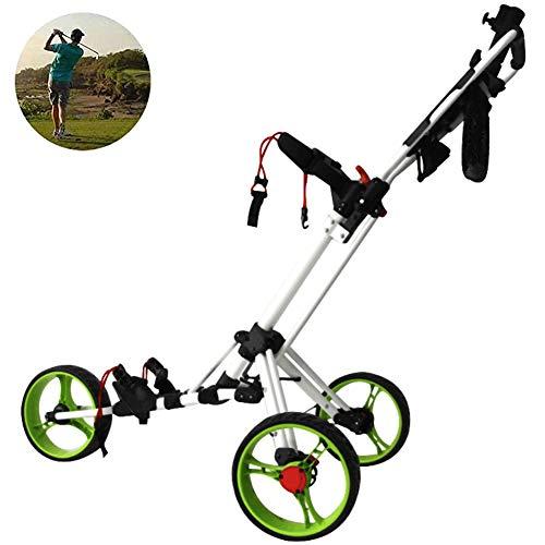 Best Buy! DFGHJKNN 3 Wheel Golf Trolley Push Pull Golf Cart with Foot Brake,Adult Golf Trolley Fast ...