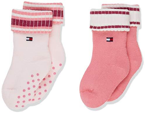 Tommy Hilfiger Unisex Baby TH 2P FULL PLUSH ABS Socken, Mehrfarbig (Pink Combo 174), 23-26 (Herstellergröße: 023) (2er Pack)
