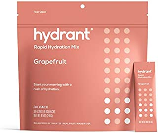 HYDRANT Electrolyte Powder 30 Pack, Rapid Hydration Drink Mix, Electrolyte Powder Packets with Zinc, Use for: Workout, Swe...