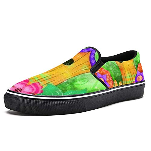 Zapatillas de deporte para mujer Woodpile jardín moda zapatillas de malla transpirable caminando senderismo tenis zapatos, color Multicolor, talla 41 EU