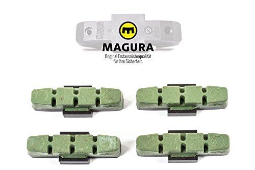 Magura 4 Stück original Brems Beläge hydraulische Felgenbremsen HS11 33 grün Brake Pads