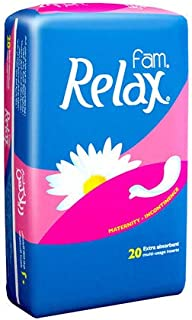 Fam Relax Natural cotton Feel Maternity Sanitary Pads,20 pads