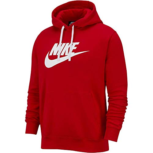 Nike Sweat Hoodie Club Fleece/Rouge