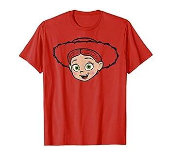 Disney Pixar Toy Story Jessie Big Face Hat Outline T-Shirt