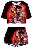 YUNZHONG Dragon Ball Anime Cosplay T-Shirt Pantalones Cortos Escuela Club Uniforme...