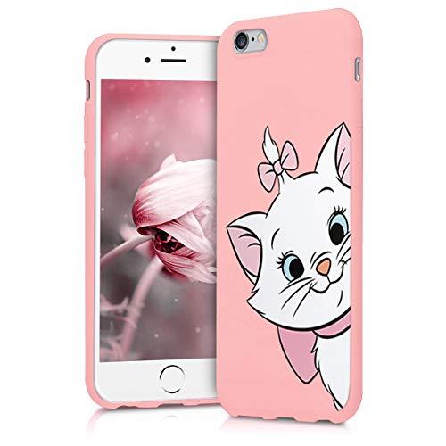 Pnakqil iPhone 6s / 6 Cover,Custodia per iPhone 6s / 6 in Silicone TPU Slim Cover Case Antiurto Anti-Graffio Ultra Sottile Back Case Cellulare Rosa Chiaro,Gatto 01