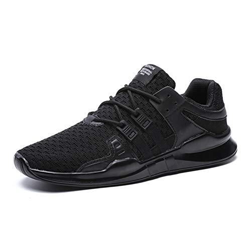 BAOLESEM BAOLESME Herren Sportschuhe Atmungsaktiv Gym Laufschuhe Leichtgewicht Turnschuhe Freizeit Outdoor Sneaker, 44 EU, 02 Schwarz