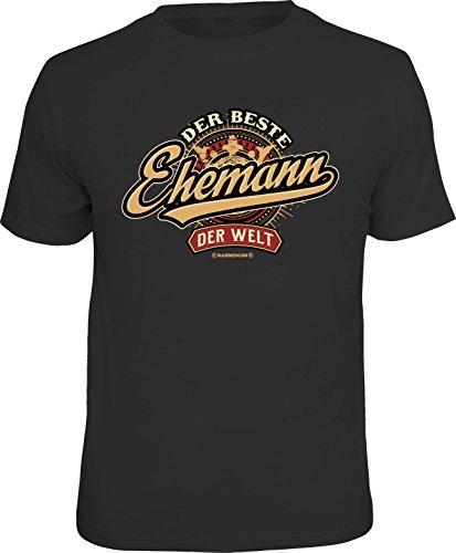 RAHMENLOS Original Geschenk T-Shirt zum Hochzeitstag: Der Beste Ehemann der Welt Größe XL, Nr.6186