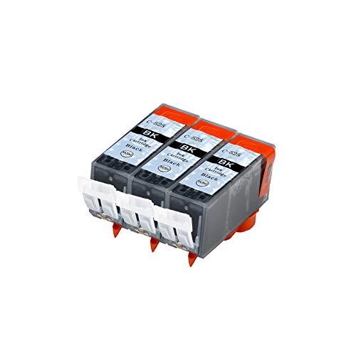 Abakoo 3 cartuchos de tinta de repuesto PGI-525BK para Canon Pixma MG6150, MG6250, MG8150, MG8250 y MX885